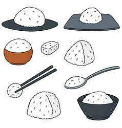 set of rice vector image