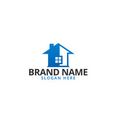 simple house real estate logo icon design vector image