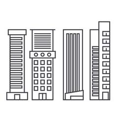 skyscraper thin line icon concept skyscraper vector image
