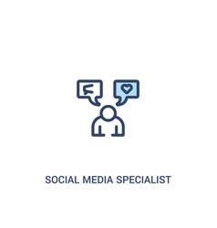 Social media specialist concept 2 colored icon vector