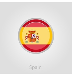 Spanish flag button vector image