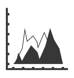 statistic graph icon vector image