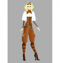 steam punk girl vector image