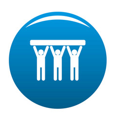 strong teamwork icon blue vector image