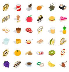 sushi icons set isometric style vector image vector image