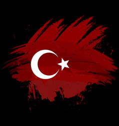 Symbol poster banner turkey map of turkey with vector