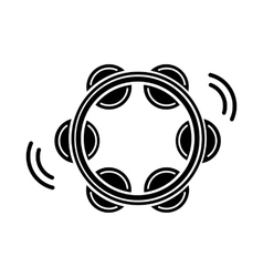 Tambourine icon black simple style vector image
