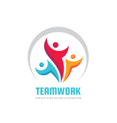 teamwork business logo template creative vector image