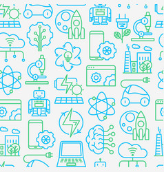 technologies seamless pattern vector image