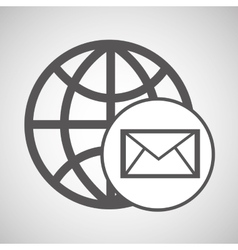 technology globe media email graphic vector image