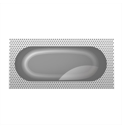 The layout of the package for the condom isolated vector