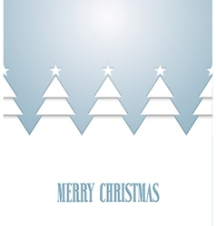 Vintage greeting card with christmas trees vector