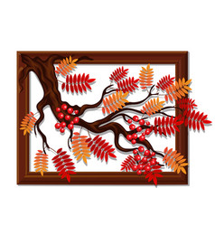 wall-mounted decor handmade wooden frame vector image