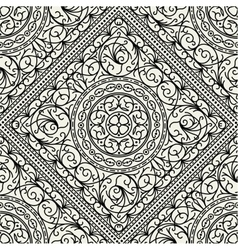 Wallpaper in style baroque seamless vector