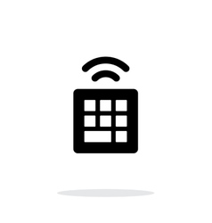 Wireless small keyboard icon on white background vector image