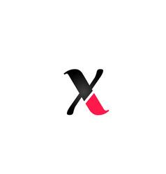 x alphabet letter logo design suitable for a vector image