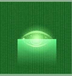 biometric identification system for eyes vector image