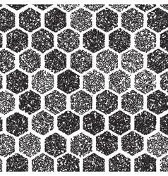 Dotwork Hexagon Pattern halftone Hexagon vector image vector image