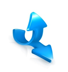 Emblem of blue arrows vector image