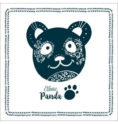 Panda logo bamboo icon vector