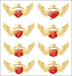 wings cross vector image vector image