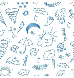 Doodle patern weather vector image