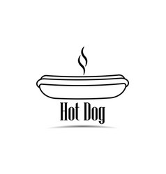 Hot dog icon on white background fast food vector