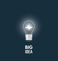 light bulb big idea vector image vector image