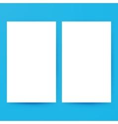 Two Empty Brochure Mockup vector image vector image