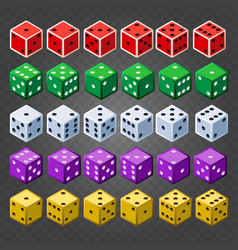 casino dice set on transparent background vector image vector image
