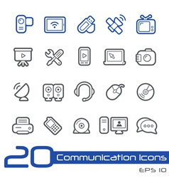 Communications Icons Outline Series vector image