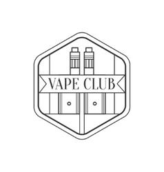 Hexagon frame premium quality vapers club vector