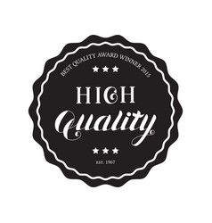 high quality round emblem vector image