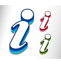 information web icon design element vector image