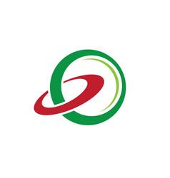 abstract circle orbit business logo vector image