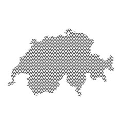 abstract switzerland country silhouette of wavy vector image