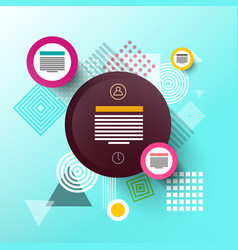 abstract technology flat design background modern vector image