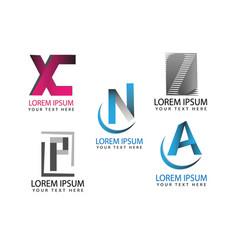 alphabet letter icons set for logo graphic design vector image