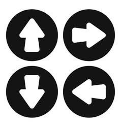 Arrow set icon simple style vector