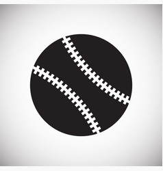 Baseball ball icon on white background for graphic vector