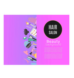 Beauty hair salon studio poster with hairdressers vector