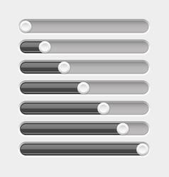 black slider bar settings on control panel vector image vector image