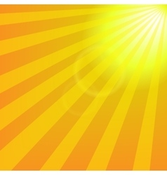Bright yellow sun with rays abstract travel vector
