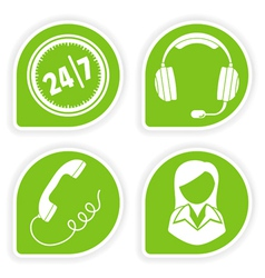 Business support icons vector
