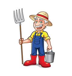 Cartoon farmer standing vector