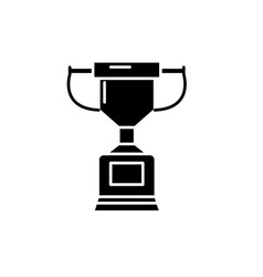 championship cup black icon sign on vector image
