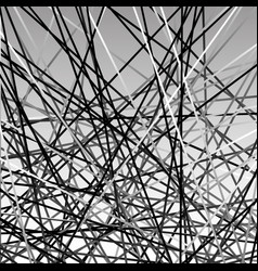 Chaotic grayscale lines texture abstract geometric vector