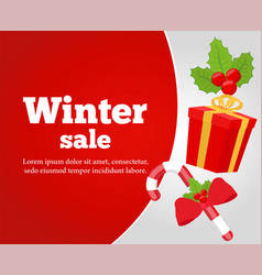 Christmas sale poster banner vector