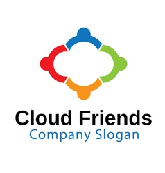 Cloud Friends Design vector