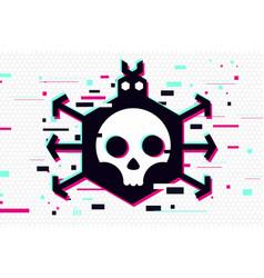 Computer virus glitch style vector